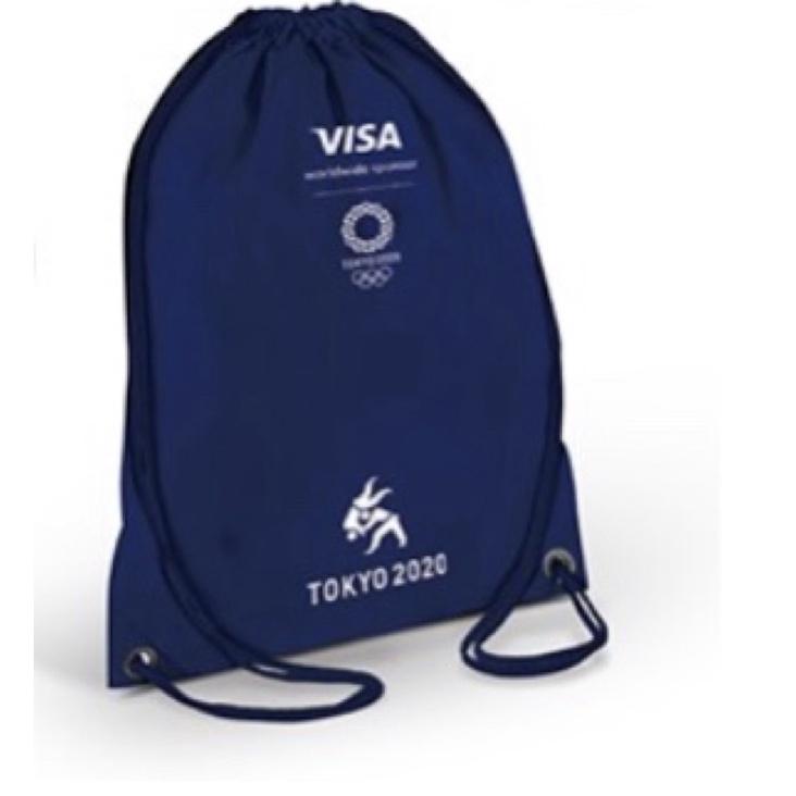 現貨 全新 Visa 2020年東京奧運主題束口背包 漢神巨蛋刷卡禮