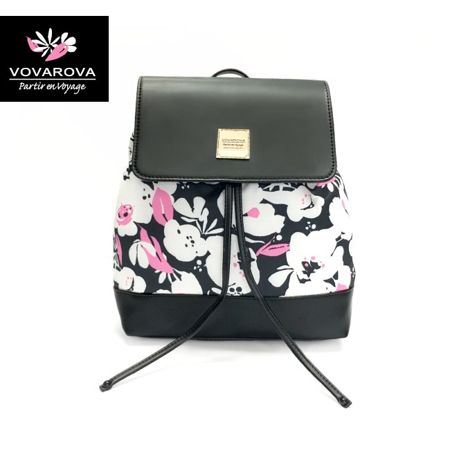 VOVAROVA空氣包-翻蓋束口後背包-粉墨花語