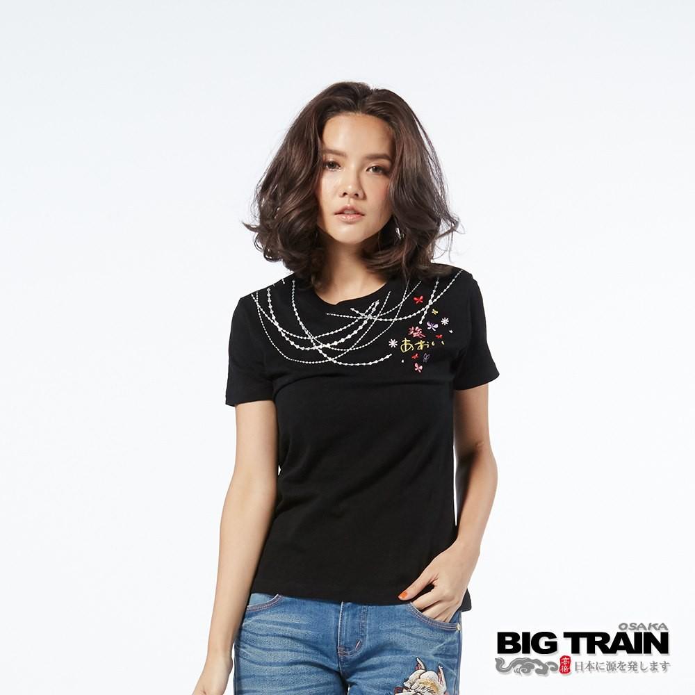BIG TRAIN 墨達人 戀鍊小葵圓領T恤 女款 B85269-88