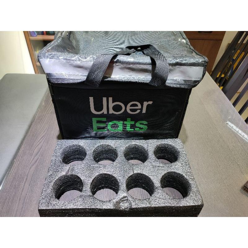 客製化印刷,台灣現貨Uber eats   ubereats 保溫包/保溫袋/小包/小提袋 免費印刷 送支架送完為止