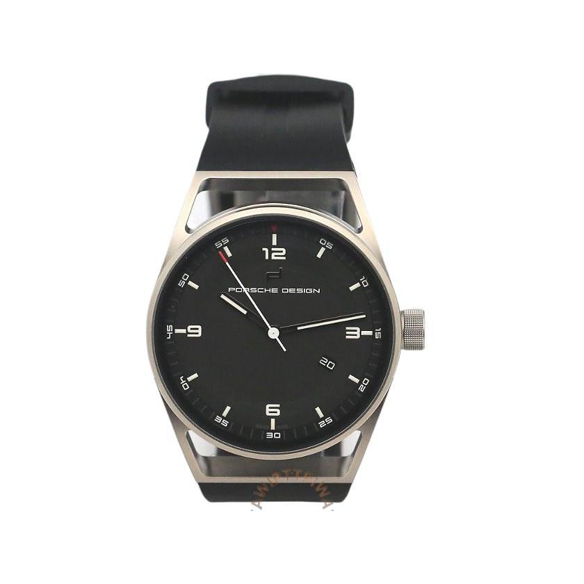 【PORSCHE DESIGN】Datetimer 鈦金屬 機械錶 橡膠帶