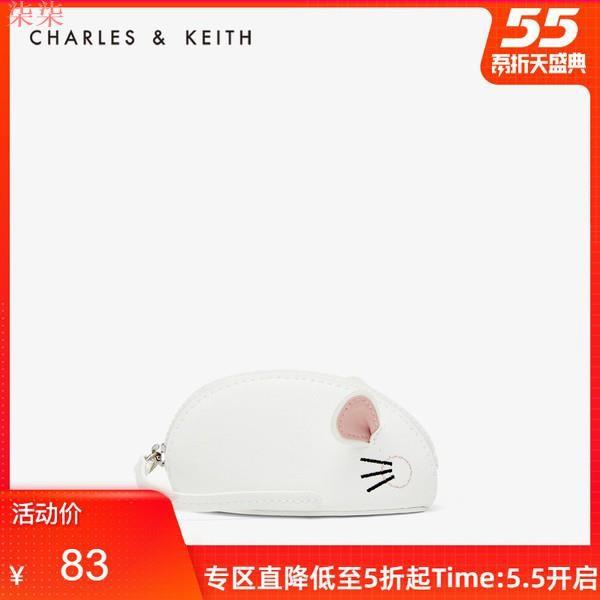 柒柒【拉鏈卡包零錢包】時尚百搭男女同款短夾低價熱銷新款現貨CHARLES&KEITH春季新品CK6-30680