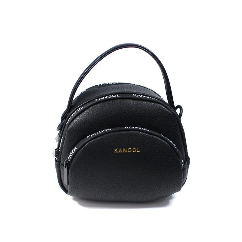KANGOL 側背包 小圓包 手提 黑色 6055301020 noC17