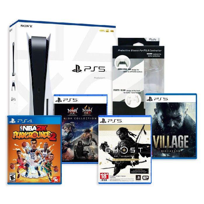 PS5主機光碟版 禮包 9/16剛到貨 含遊戲x4/單機 Playstation 5