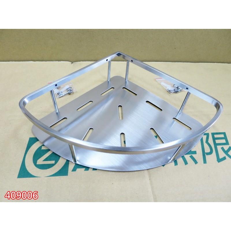 SUS304不銹鋼拉絲 單層鋼板置物架 三角鋼板架 浴室轉角架 006