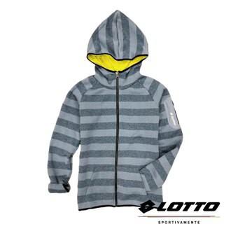 英德德坊~義大利第一品牌-LOTTO樂得 女款保暖升溫刷毛連帽外套 保暖2級 [1248] 灰藍398元