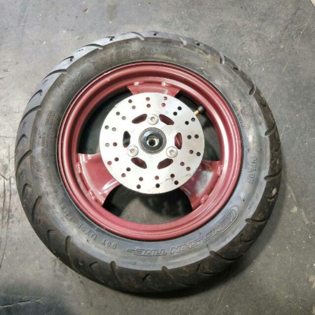 達成拍賣 QC CUXI 115 落地改 碟盤 輪圈 前輪胎 中古零件拆賣 各式機汽車中古零件均有販售 歡迎詢問