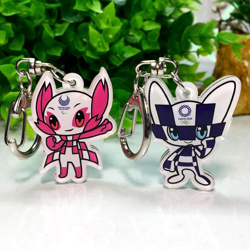 【2020東京奧運會 吊飾】吊飾 2020奧林匹克東京奧運會楊倩同款徽章鑰匙扣裝潢吊墜吉祥物