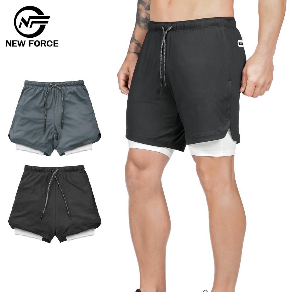 NEW FORCE 防走光雙層健身褲 廠商直送 現貨