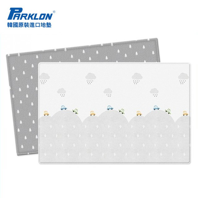 Parklon韓國帕龍-雙面加厚 1 . 2CM PVC 爬行地墊-小汽車的冒險