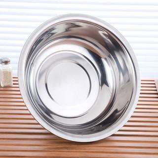 多規格不銹鋼盆子 圓形洗臉盆36CM家用無磁加厚 洗菜盆不銹鋼盆 基隆市