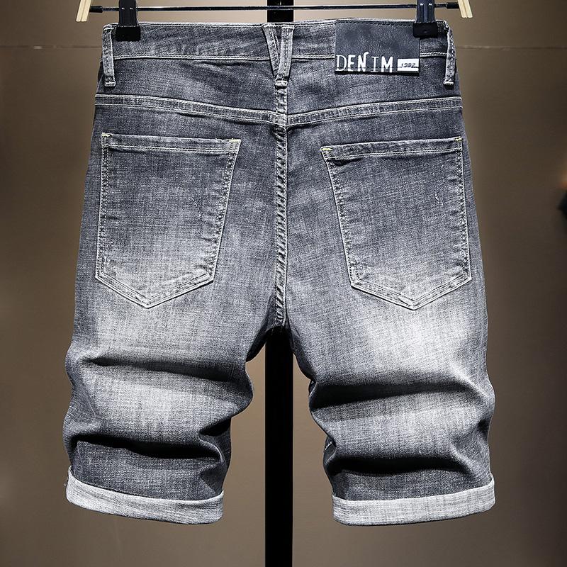 牛仔短褲夏裝丨2021新款夏季破洞牛仔短褲男直筒寬鬆五分褲男時尚中褲男生潮牌褲