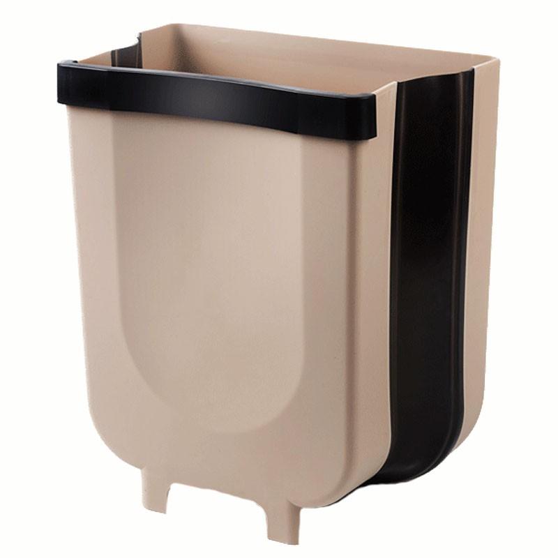 壁掛式可折疊垃圾桶【好買居家】摺疊垃圾桶 掛式垃圾桶 廚房垃圾筒 收納籃 收納桶 車用垃圾桶 廚餘桶 垃圾桶
