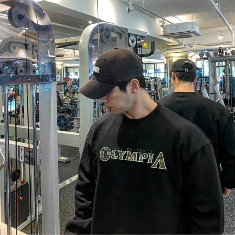 ❤暢銷❤新款健身衛衣圓領長袖訓練衣奧賽服男韓版寬松套頭衫