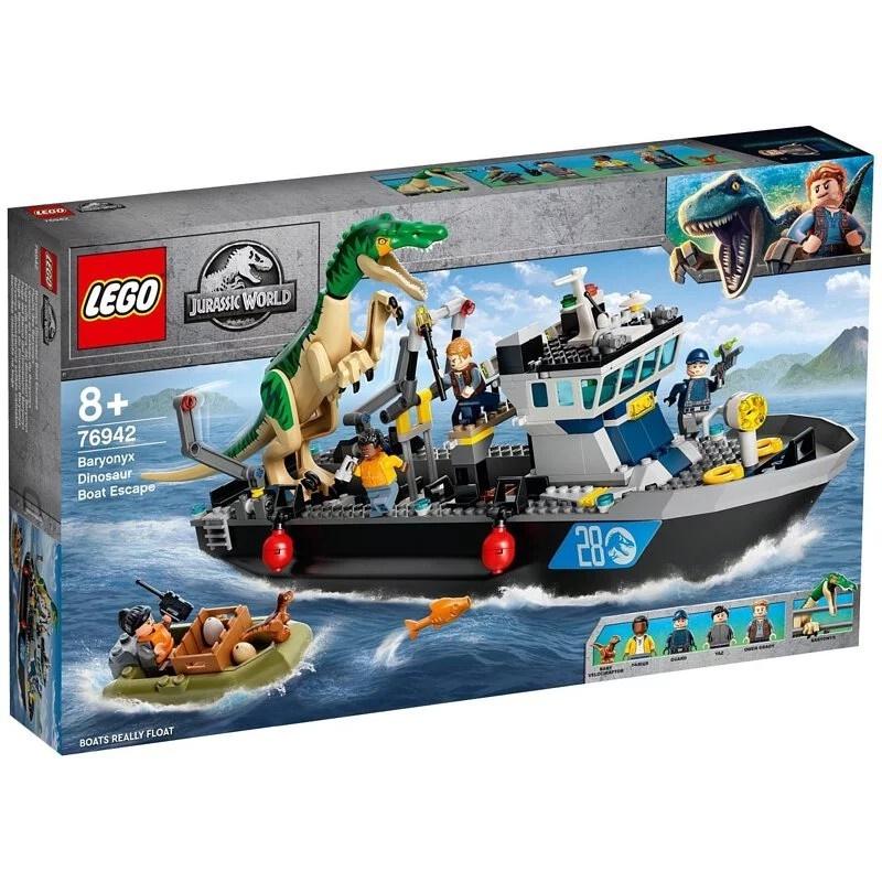 樂高LEGO 侏儸紀世界系列 堅爪龍小艇脫逃 76942