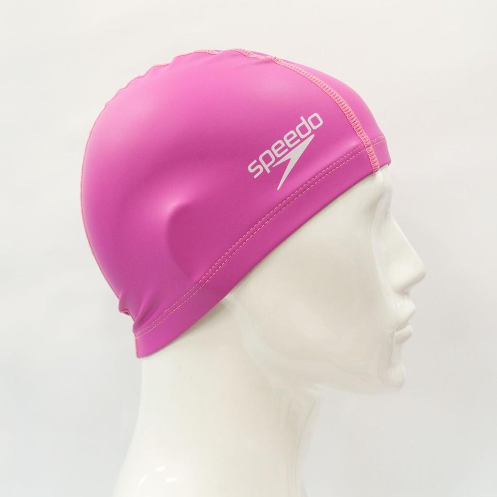 Speedo 泳帽 兒童泳帽 兒童合成泳帽 粉紅 SD8720731341 泳具 游泳配件 素色泳帽
