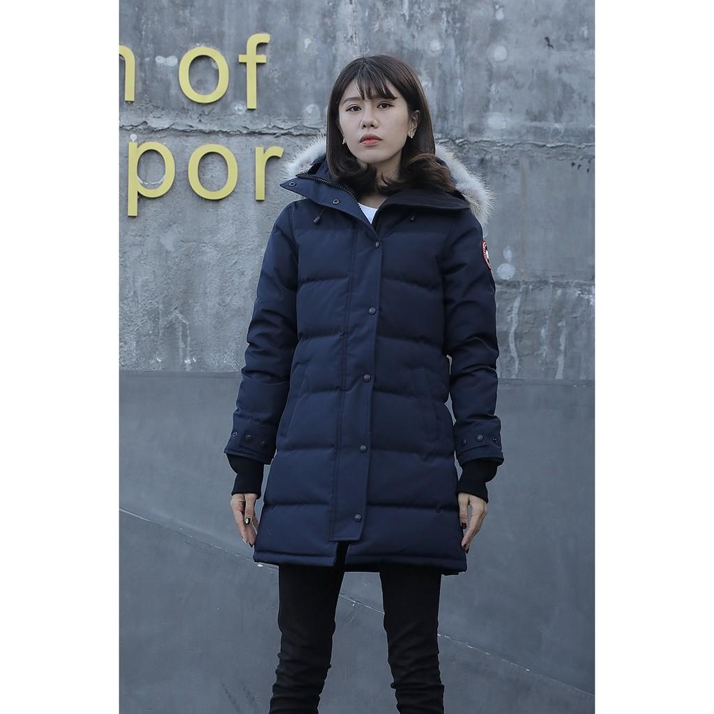 加拿大代購 CANADA GOOSE 加拿大鵝 女款修身長版  羽絨外套 保暖外套 加厚外套 抗寒﹣40℃ 深藍