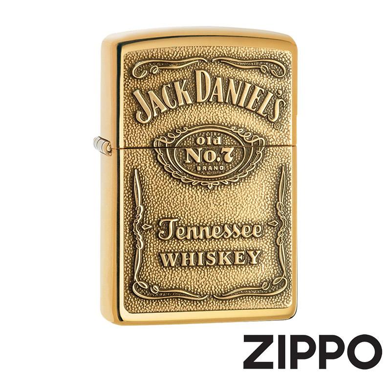 ZIPPO Jack Daniel's(金)防風打火機 美國設計 254BJD.428