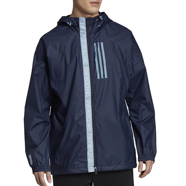 ADIDAS【EB7600】W.N.D. PARLEY 運動外套 防潑水 垂肩設計 深藍色 男生