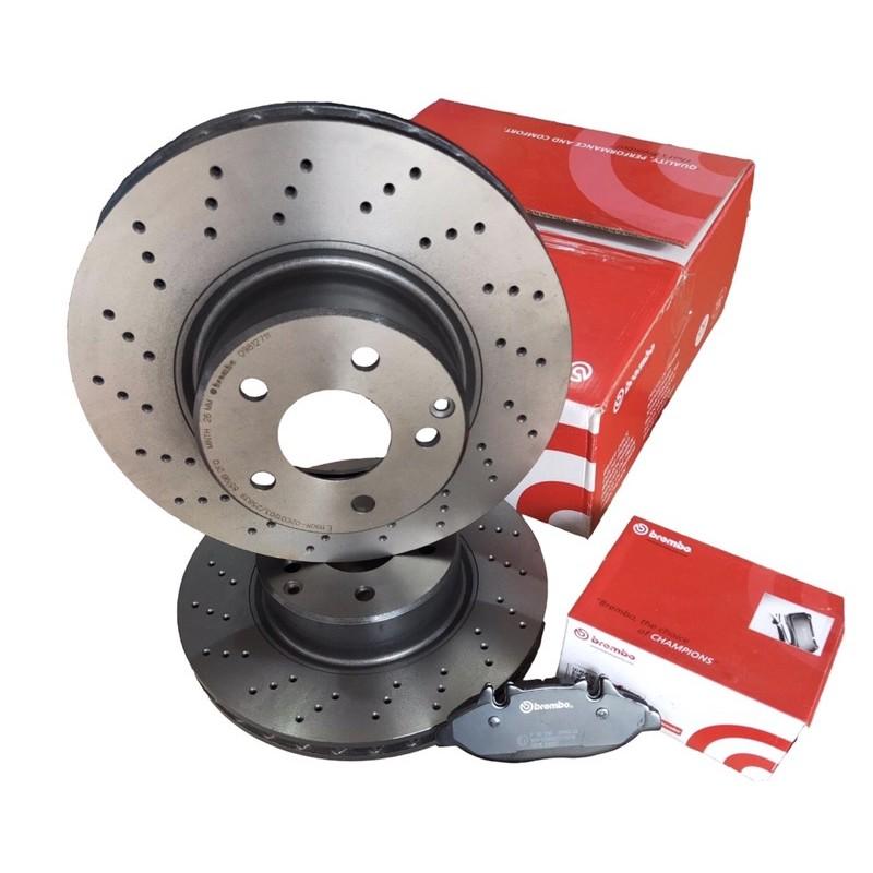 Brembo原廠型專用碟盤W205-C300、250前盤改良件打孔