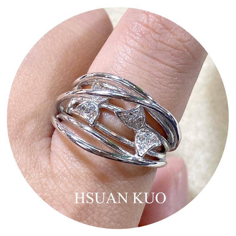 【媗菓】花漾蝴蝶設計款純銀戒指