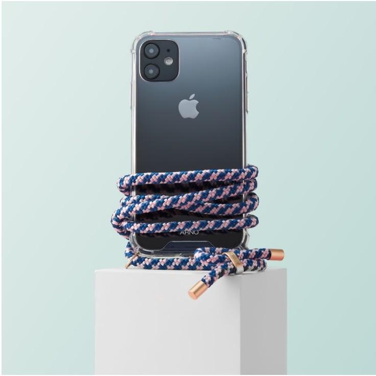 Arno 編繩背帶透明iPhone手機殼_日常粉