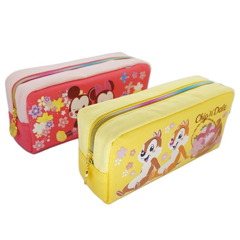 迪士尼(櫻花系)棉布方型筆袋 DFWPK200-1【久大文具】