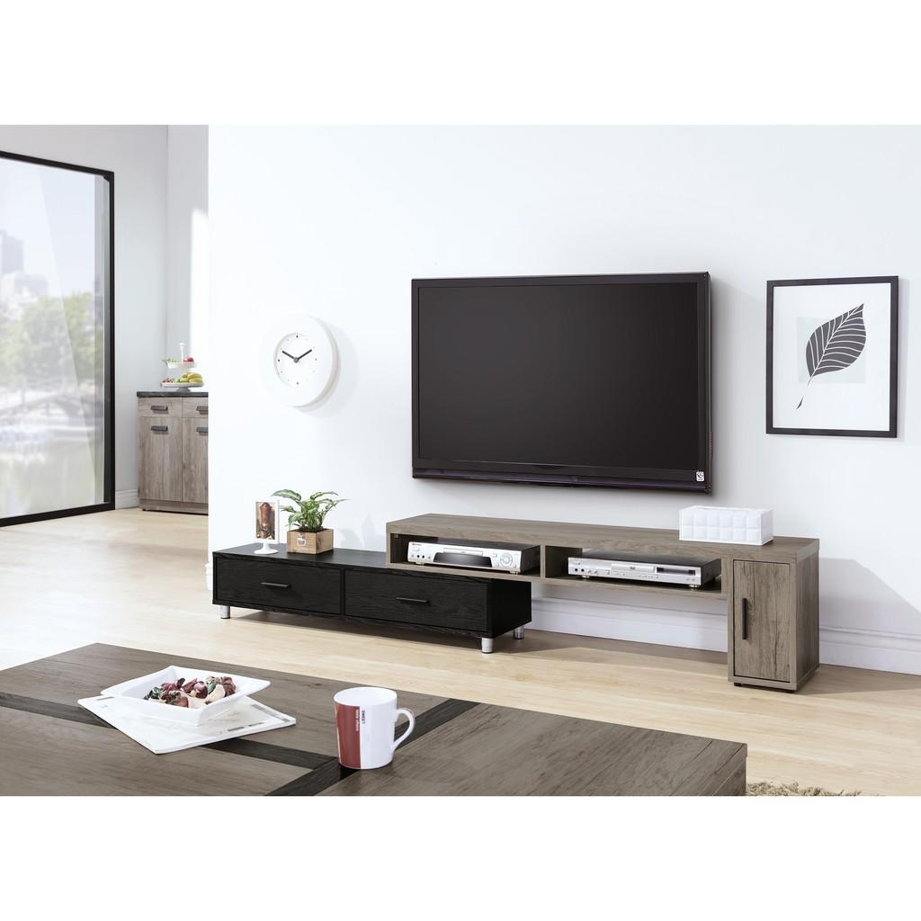 【 家居Home生活 】HY-21 肯特 古橡色 4.6尺伸縮電視櫃 台灣製造 傢俱工廠特賣