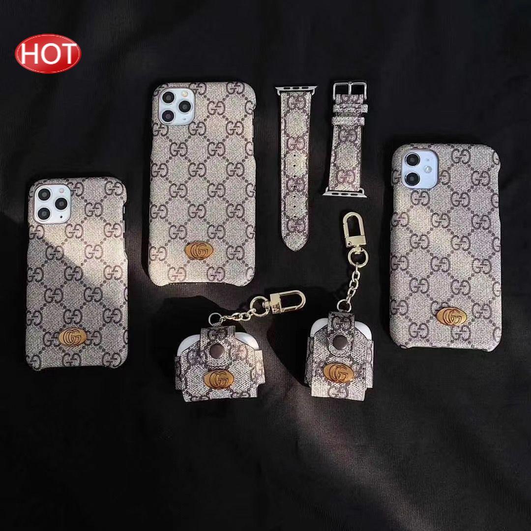 原野 大牌雙G專櫃同款錶帶  蘋果 iPhone 11Pro xsmax 8plus airpods 手機殼 耳機包