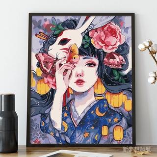 6k5a 油彩畫畫 色雛菊數字北歐手繪填數字減壓油畫diy 裝飾畫風景手工 桃園市