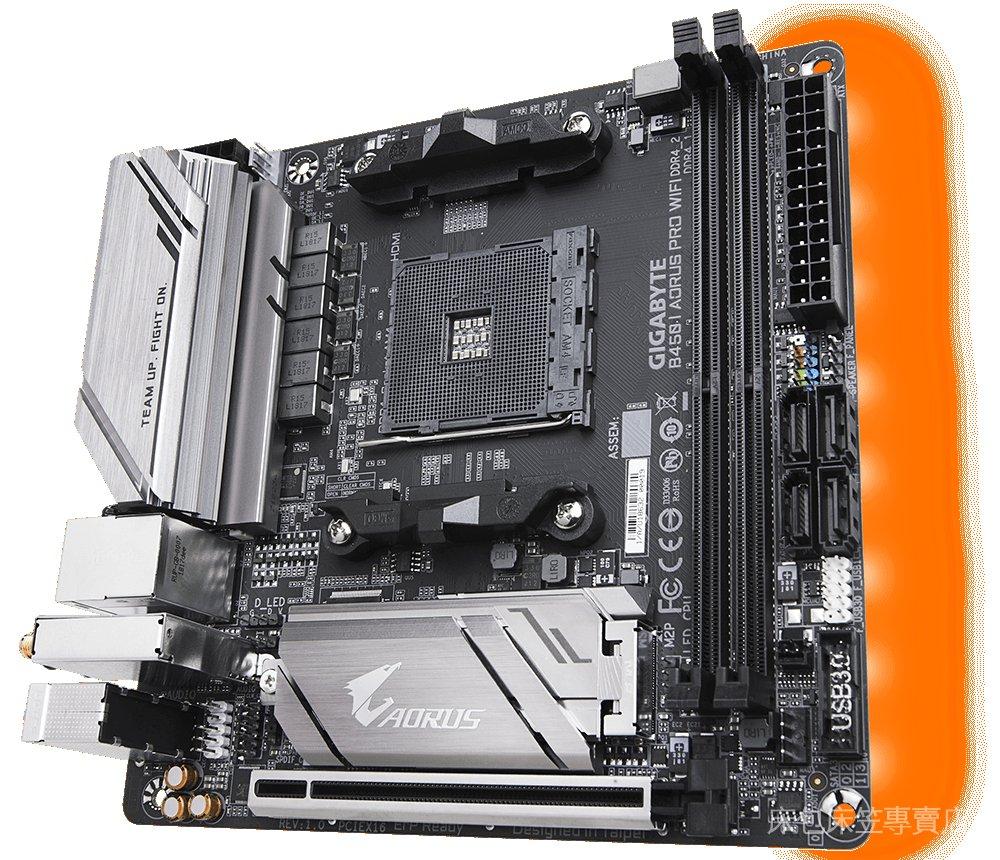 技嘉B450 I AORUS PRO WIFI 台式機電腦主板 迷你ITX AMD AM4接口