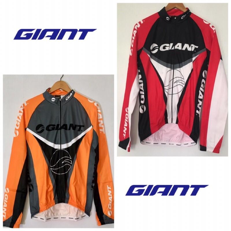 拜客先生-【GIANT】捷安特 Speedy 3 MEN LS Jersey 微刷毛長袖車衣 橘/紅