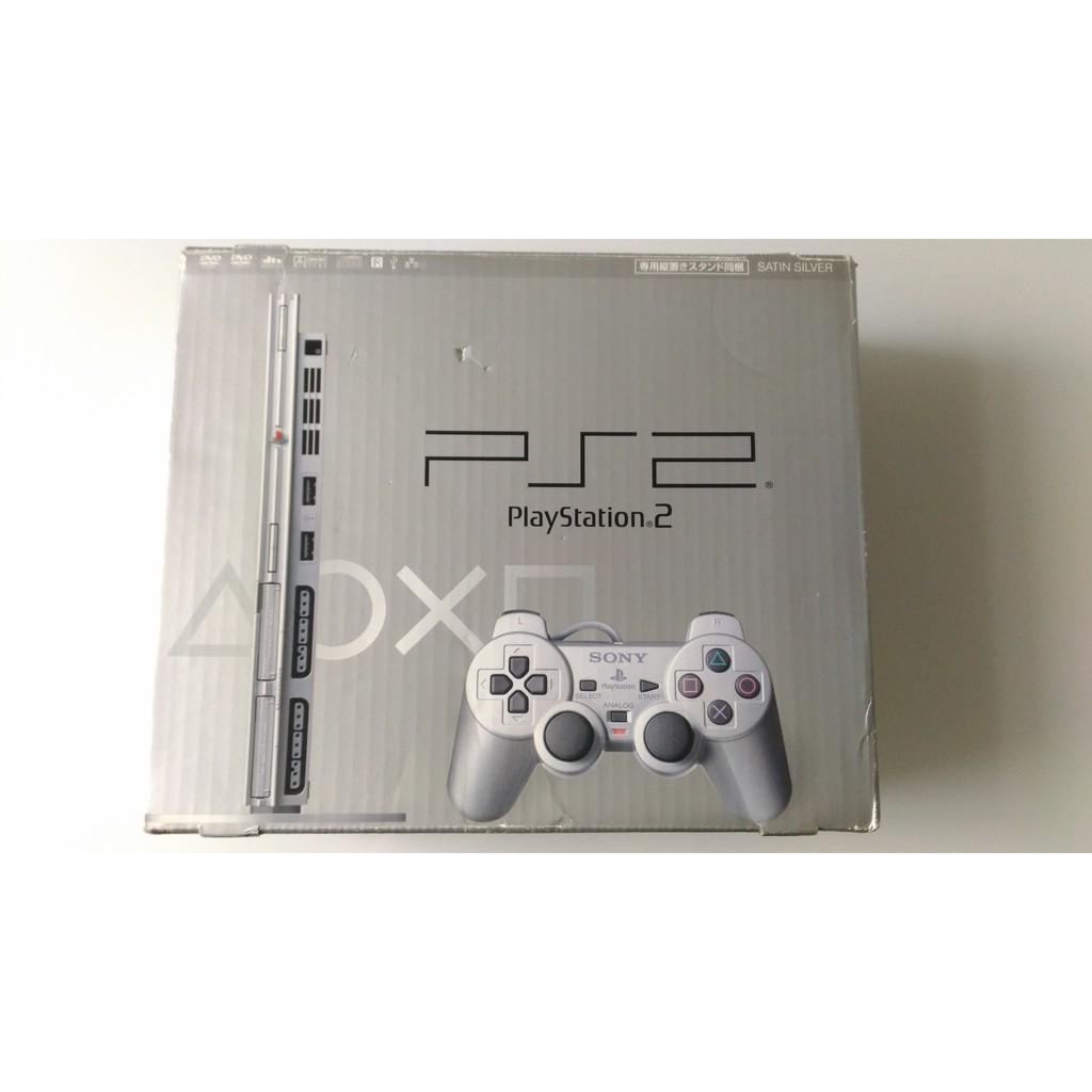 PS2 主機 絲緞銀色 Satin Silver 薄機 主機