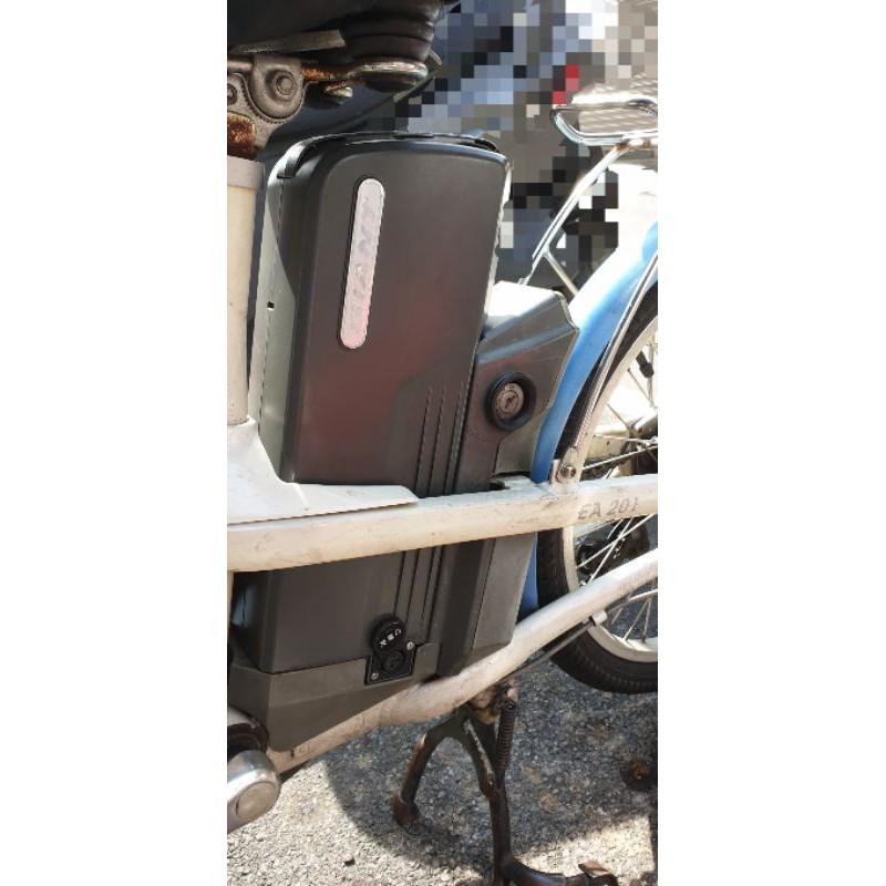 一台捷安特深藍色電動腳踏自行車(適用型號:Lefree EA-201)