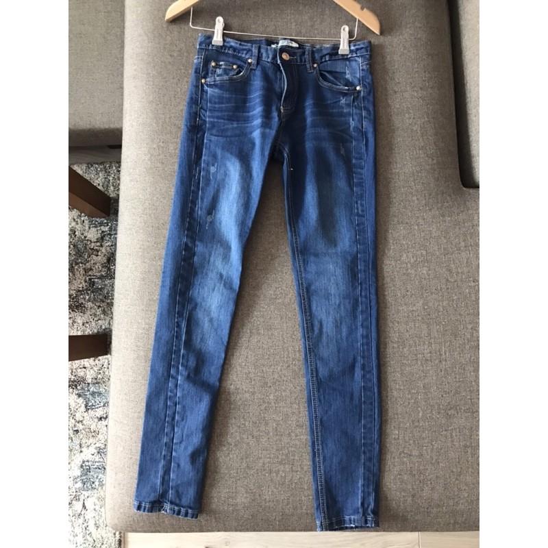 「全新」TANK Jeans 貼身刷色牛仔褲