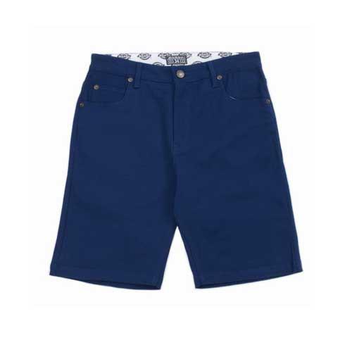 【DICKIES】 WS701 中低腰直筒斜紋布木匠 短褲 (深藍) 化學原宿