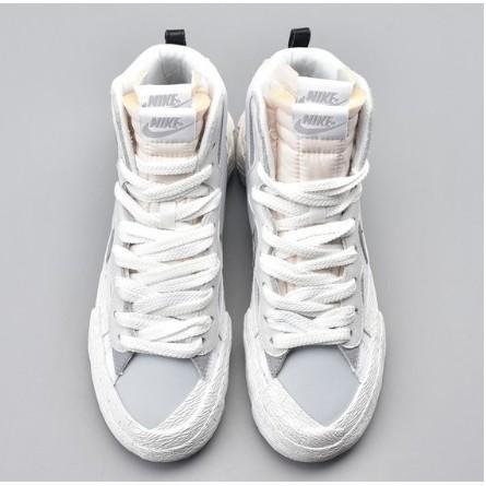 Sacai x Nike Blazer Mid Black Blue 灰白 高筒
