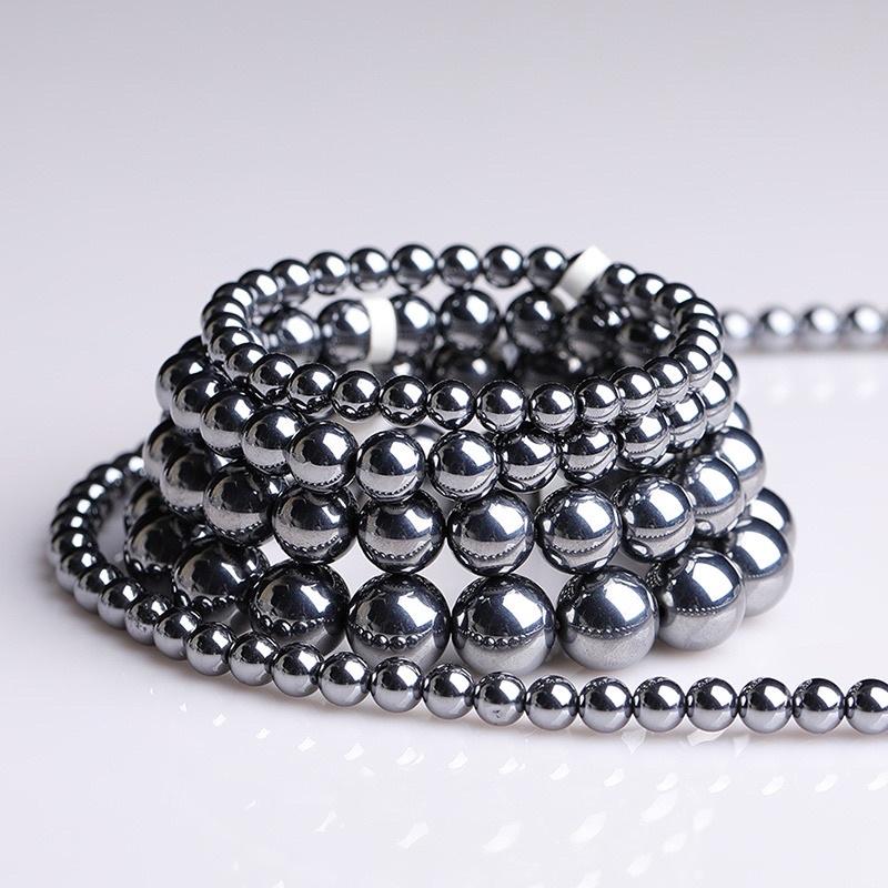 日本礦石~天然鈦赫茲圓珠手鏈手鍊/三圈式