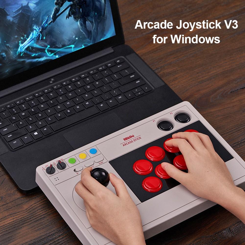 現貨 8Bitdo街機大搖桿V3PC電腦NS SwitchLite格鬥遊戲機