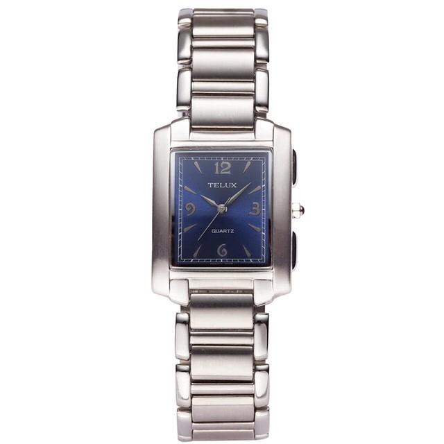 台灣品牌手錶腕錶【TELUX鐵力士】都會風格腕錶手錶27mm台灣製造石英錶765M-BL藍面 另有女款