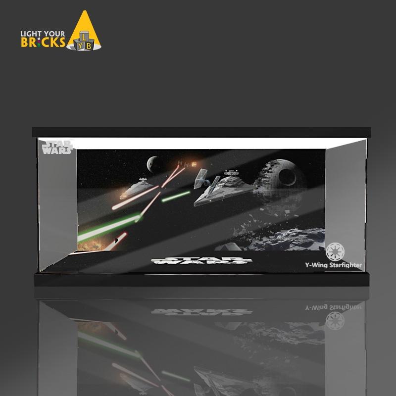 樂高 75181星球大戰Y-翼星際戰機透明 展示盒