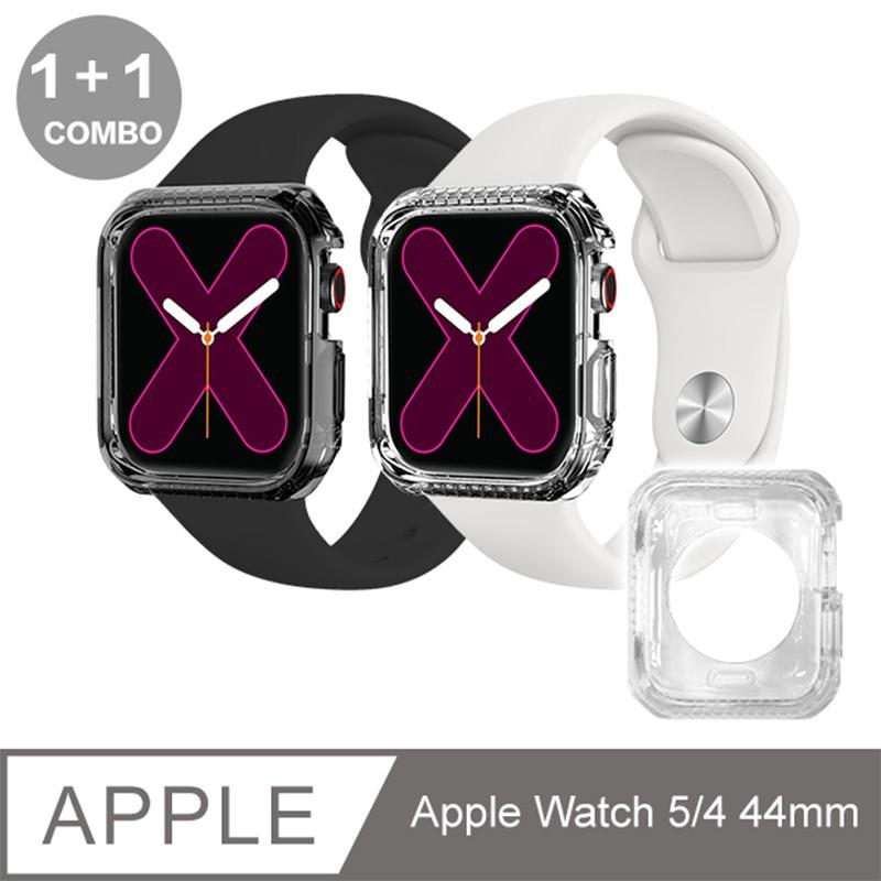 ITSKINS Apple Watch 5/4 (44mm) SPECTRUM CLEAR -防摔保護殼-超值雙殼組