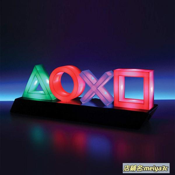 【免運速發】PS4系列周邊衍生品 音樂呼吸燈PlaySation icons light PS4圖案燈 創意呼吸燈 mm