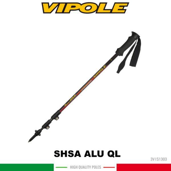 【VIPOLE 義大利 雙快調油壓避震登山杖《紅》】S-1303/手杖/爬山/健行杖/悠遊山水