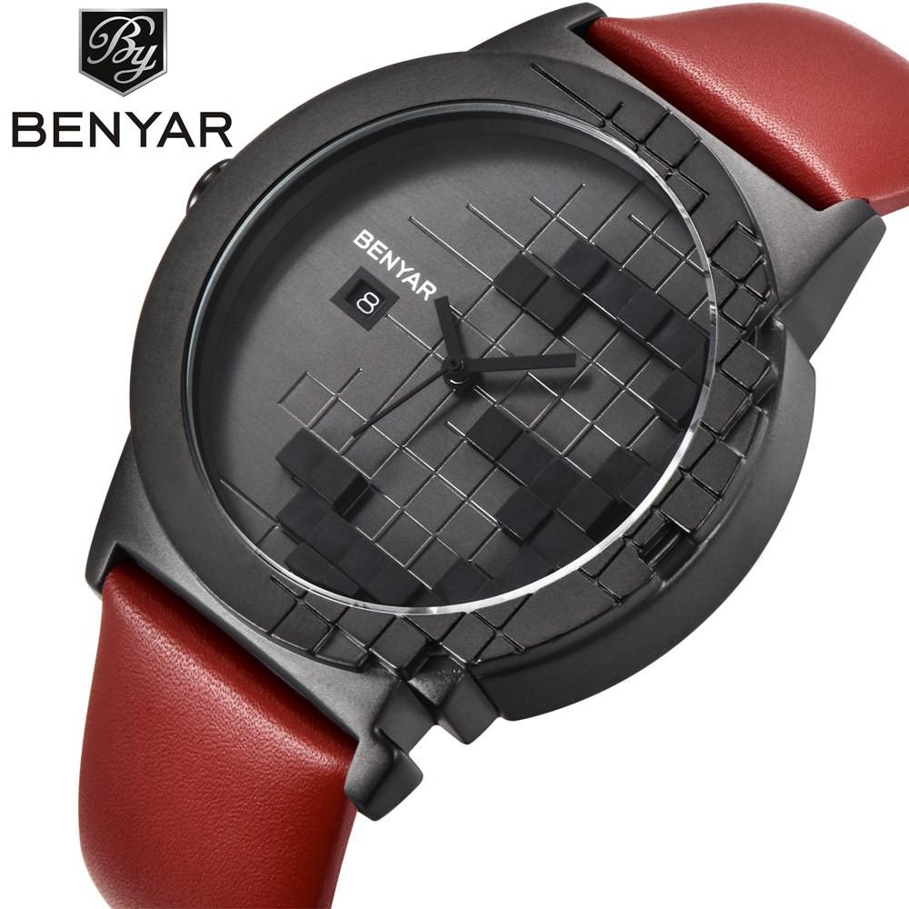 Benyar女士石英手錶女士豪華腕錶