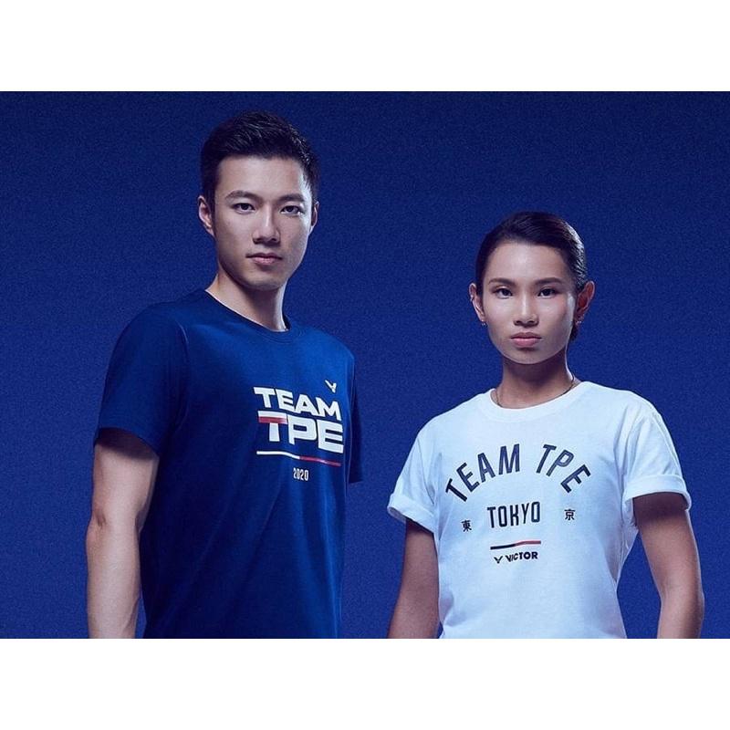 VICTOR 勝利 中華隊奧運應援服 東京款 100%純棉 短袖上衣 運動上衣 短T 尺寸:S