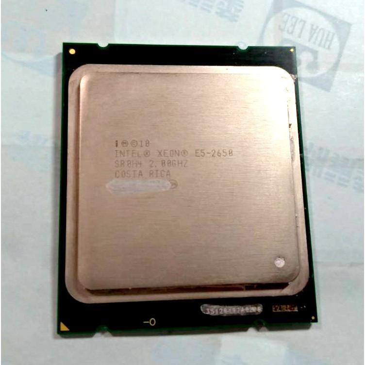 intel XEON E5-2650 2.0G/20M 8C16T 模擬16核 cpu 伺服器用