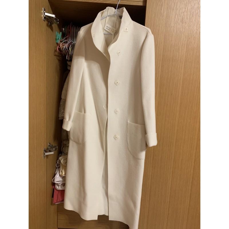 alma Italy 乳白色長版大衣外套
