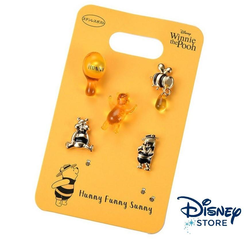 【彩購屋】現貨 日本迪士尼商店 Disney 小熊維尼 維尼熊 耳環組 針式 穿洞式 Hunny Funny Sunny