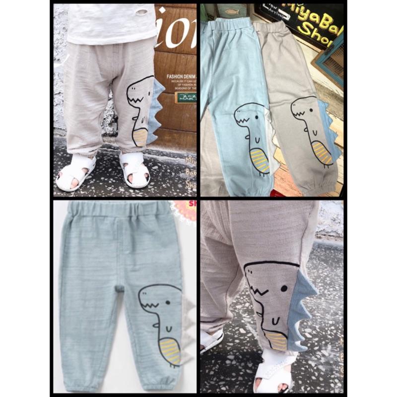 Miya*E310[童裝]80-120cm夏季立體恐龍棉麻防蚊褲